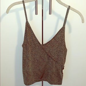 URBAN OUTFITTERS Leopard Cropped Tank